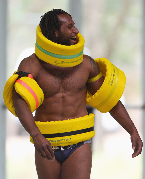 Instead of running rings around the opposition, Tuqiri has been left looking for a life raft. Image Source: Zimbio